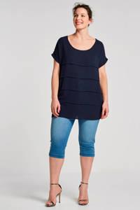 Zizzi capri jeans Emily, Blauw