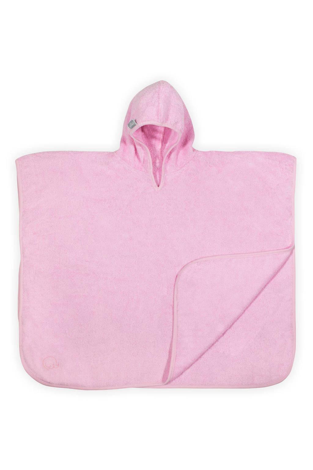 Jollein Basic care badponcho 70x60 cm lichtroze, Lichtroze