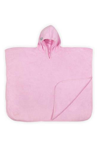 Basic care badponcho 70x60 cm lichtroze