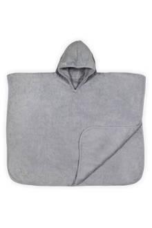 Basic care badponcho 70x60 cm grijs
