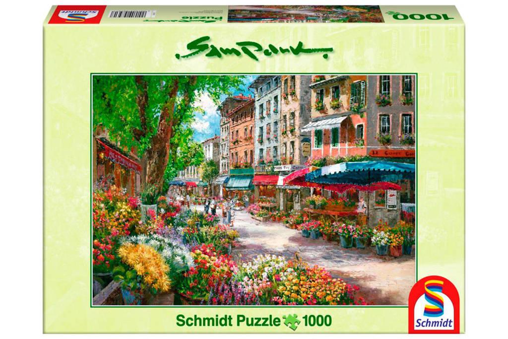 Schmidt bloemetjesmarkt Parijs  legpuzzel 1000 stukjes