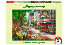 bloemetjesmarkt Parijs  legpuzzel 1000 stukjes