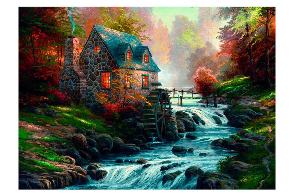 Schmidt stenen huis met waterrad  legpuzzel 1000 stukjes