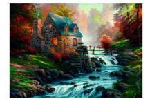 stenen huis met waterrad  legpuzzel 1000 stukjes
