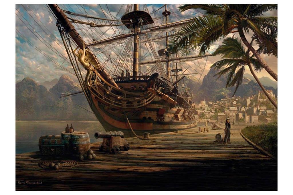 Schmidt schip voor anker  legpuzzel 1000 stukjes