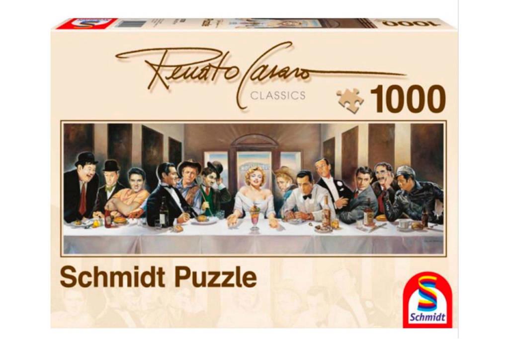 Schmidt diner met beroemdheden  legpuzzel 1000 stukjes