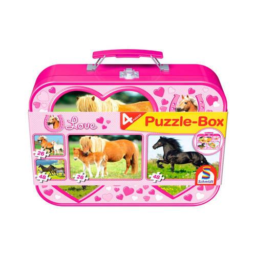 Schmidt paarden koffer legpuzzel 74 stukjes kopen