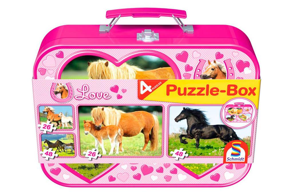 Schmidt paarden koffer  legpuzzel 74 stukjes