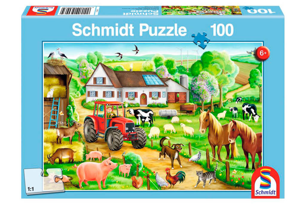 Schmidt boerderij  legpuzzel 100 stukjes