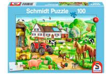 boerderij  legpuzzel 100 stukjes