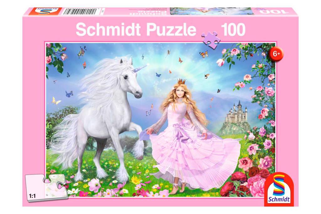 Schmidt prinses van de eenhoorns  legpuzzel 100 stukjes