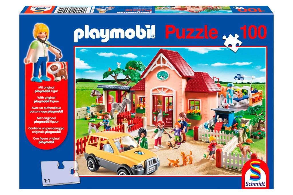 Schmidt Playmobil dierenartsenpraktijk  legpuzzel 100 stukjes