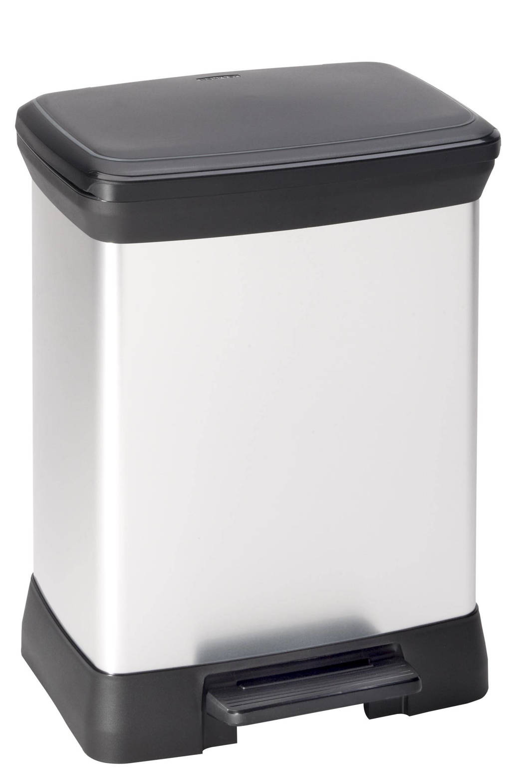 Curver Decobin 30 liter afvalbak Decobin (30 L), Metallic