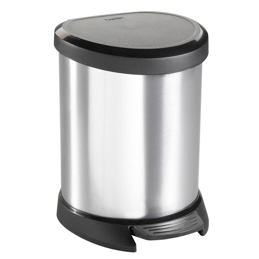 Curver Decobin Pedaalemmer 50 L Zilver Metallic Zwart.Decobin 5 Liter Pedaalemmer