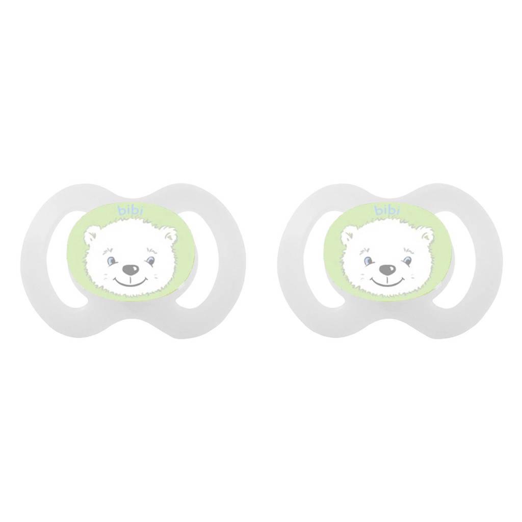 Bibi fopspeen Dental Newborn (2 stuks), Wit