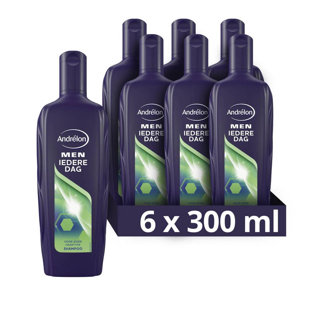 Andrelon Men Iedere Dag Shampoo - 6 x 300 ml - Voordeelverpakking