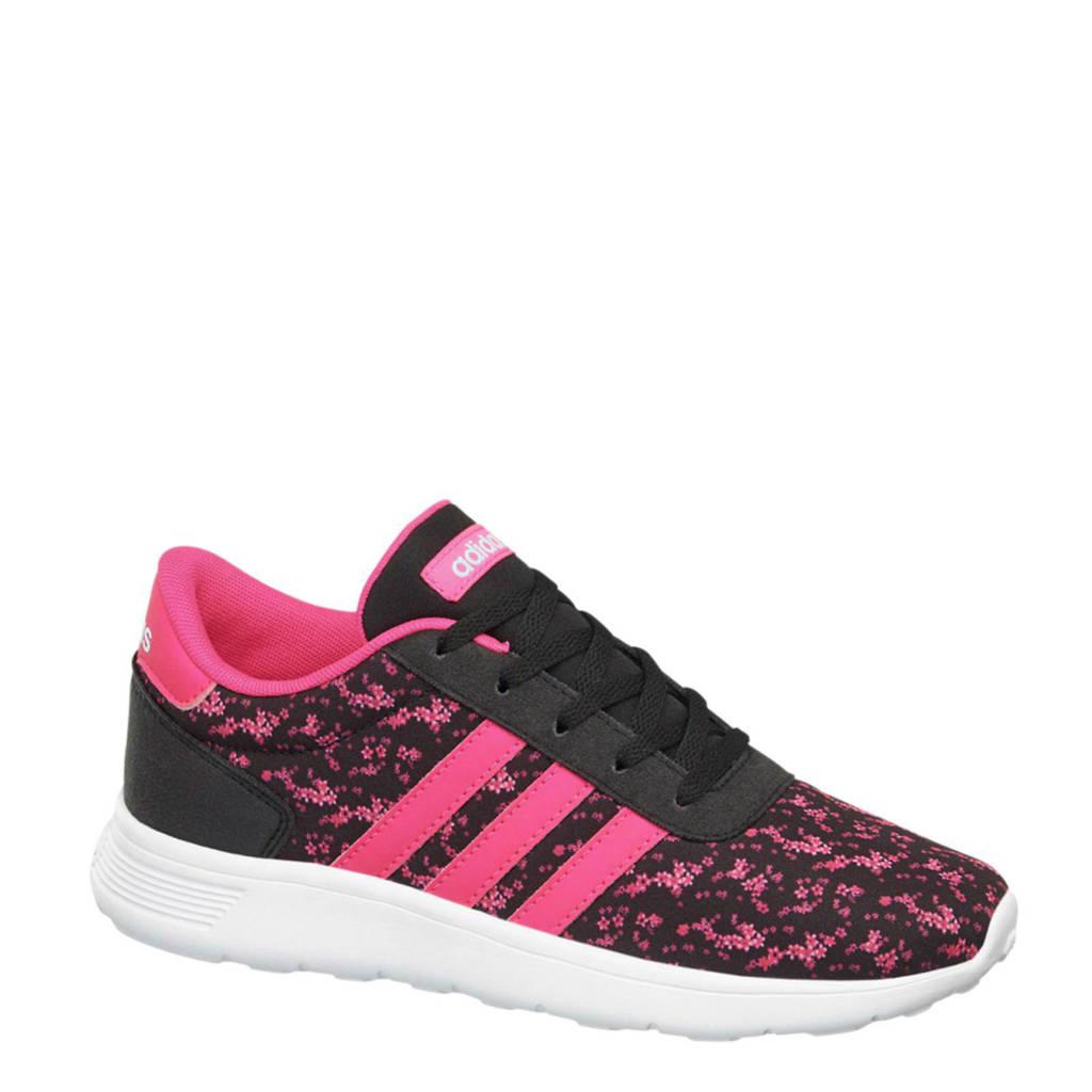 0e54d6f7eecf68 adidas neo Lite Racer K sneakers meisjes, Roze/zwart