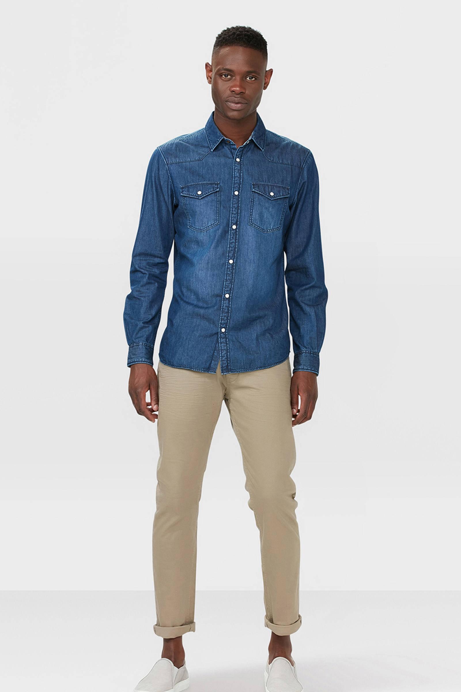 WE Fashion Blue Ridge slim fit broek   wehkamp