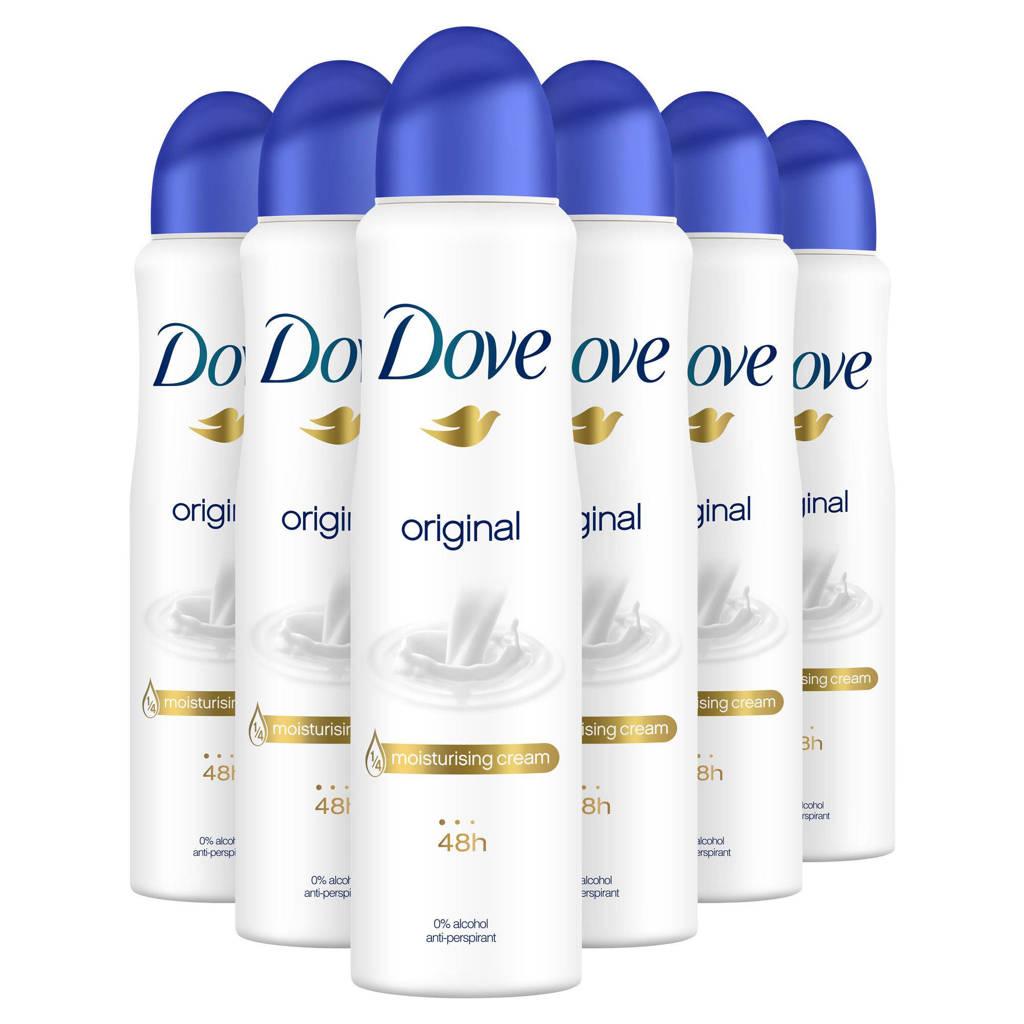 Dove Original deodorant spray - 6x150 ml - anti-transpirant, 6 x 150 ml