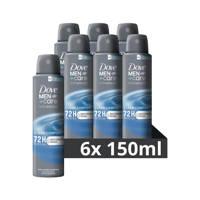 Dove Men+Care Clean Comfort deodorant spray - 6x150 ml - anti-transpirant