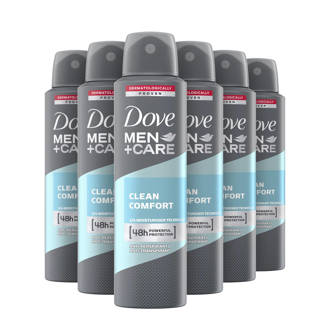Men+ Care Clean Comfort deodorant spray - 6x150 ml - anti-transpirant