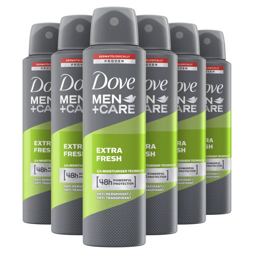 Dove Men+ Care Extra Fresh deodorant spray - 6x150 ml kopen