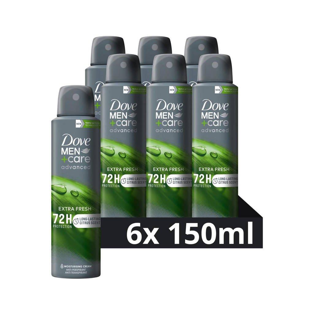 Dove Men+Care Extra Fresh deodorant spray - 6x150 ml