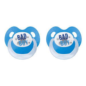 fopspeen Bad Boy 0-6 mnd (2 stuks)