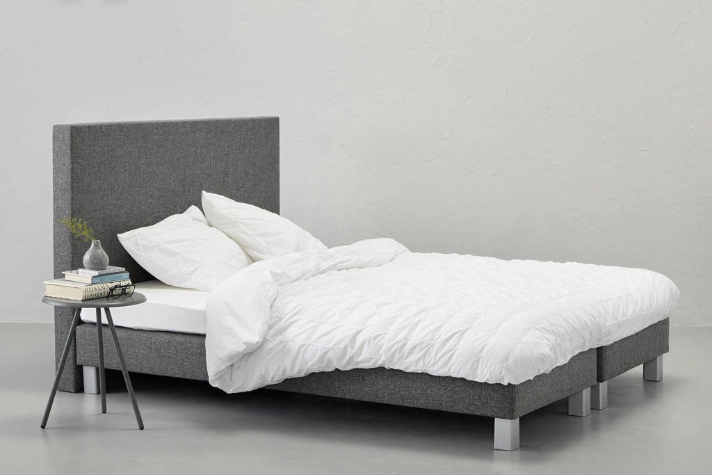Beter Bed complete boxspring Lugo (140x210 cm), Antraciet