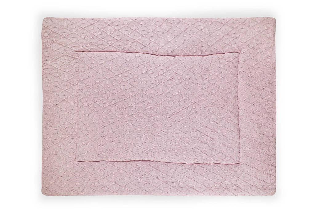 Jollein Boxkleed Diamond - 80 x 100 cm, Vintage Pink