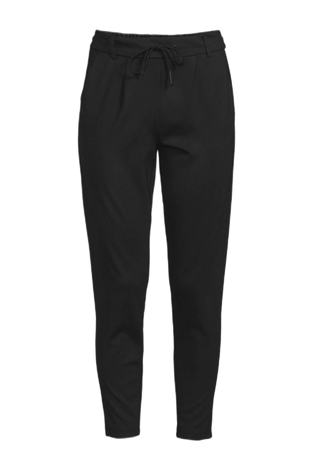ONLY tapered fit broek ONLPOPTRASH zwart, Zwart