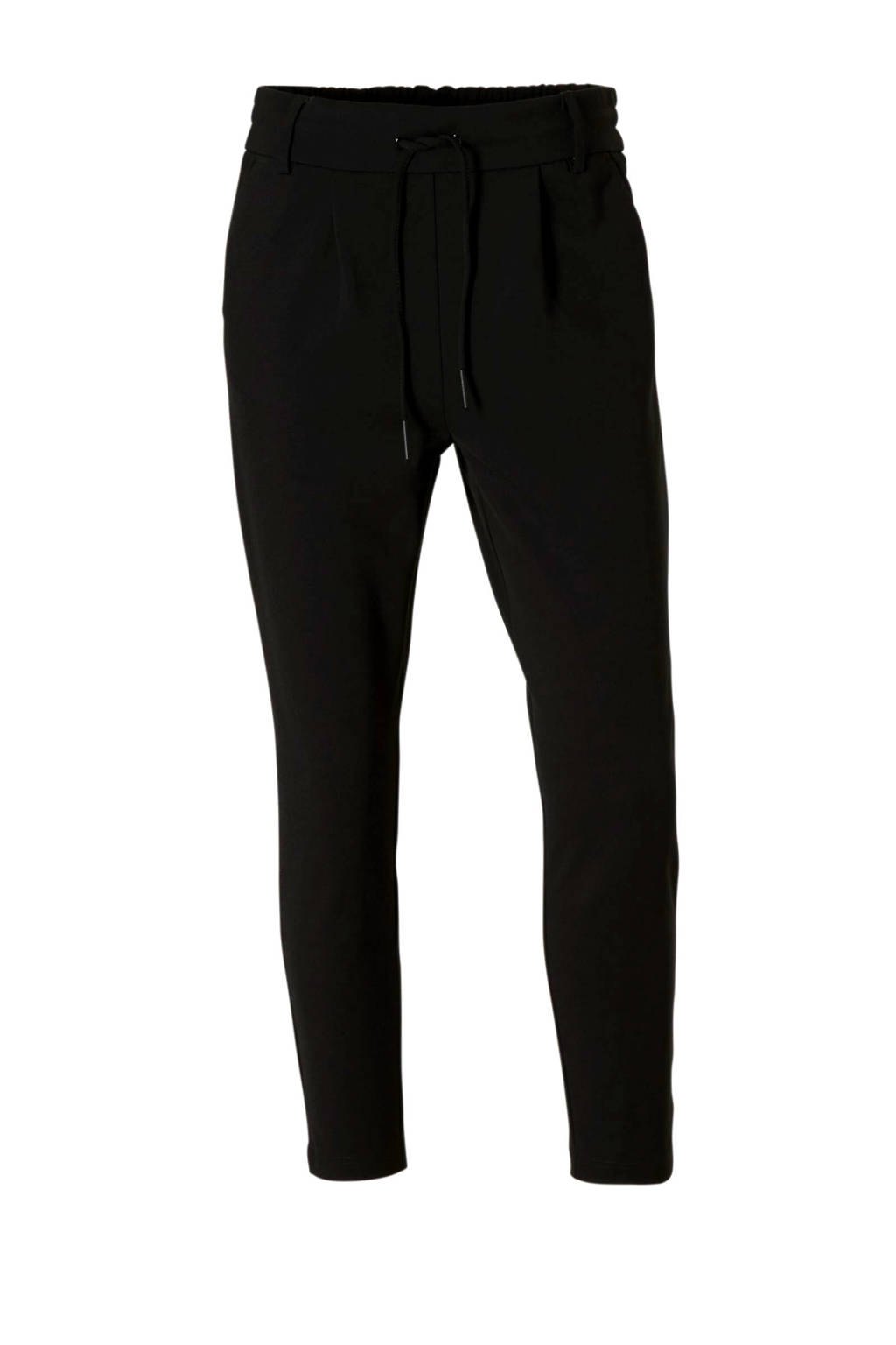 ONLY tapered fit broek Poptrash zwart, Zwart