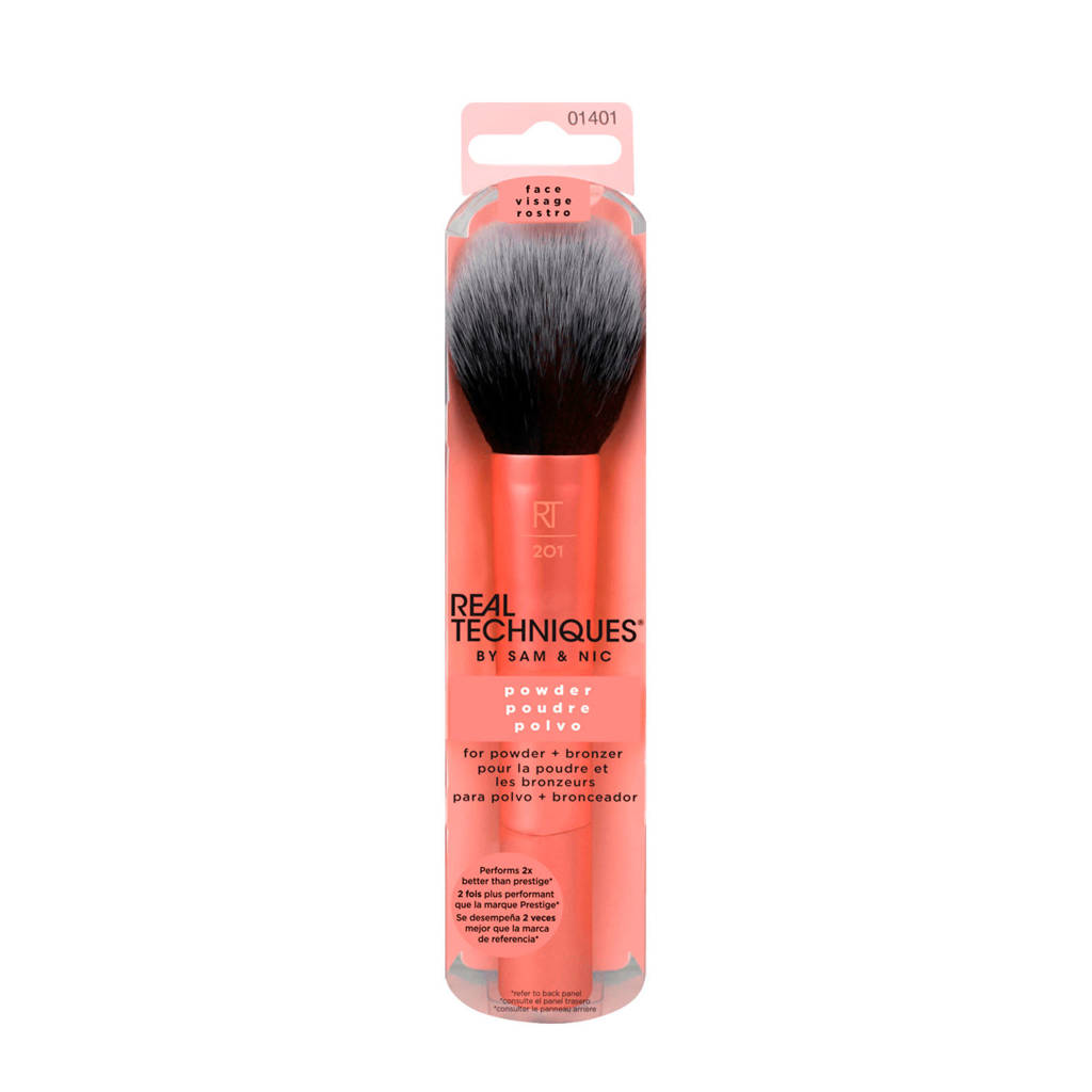 Real Techniques Powder Brush - poederkwast, Oranje