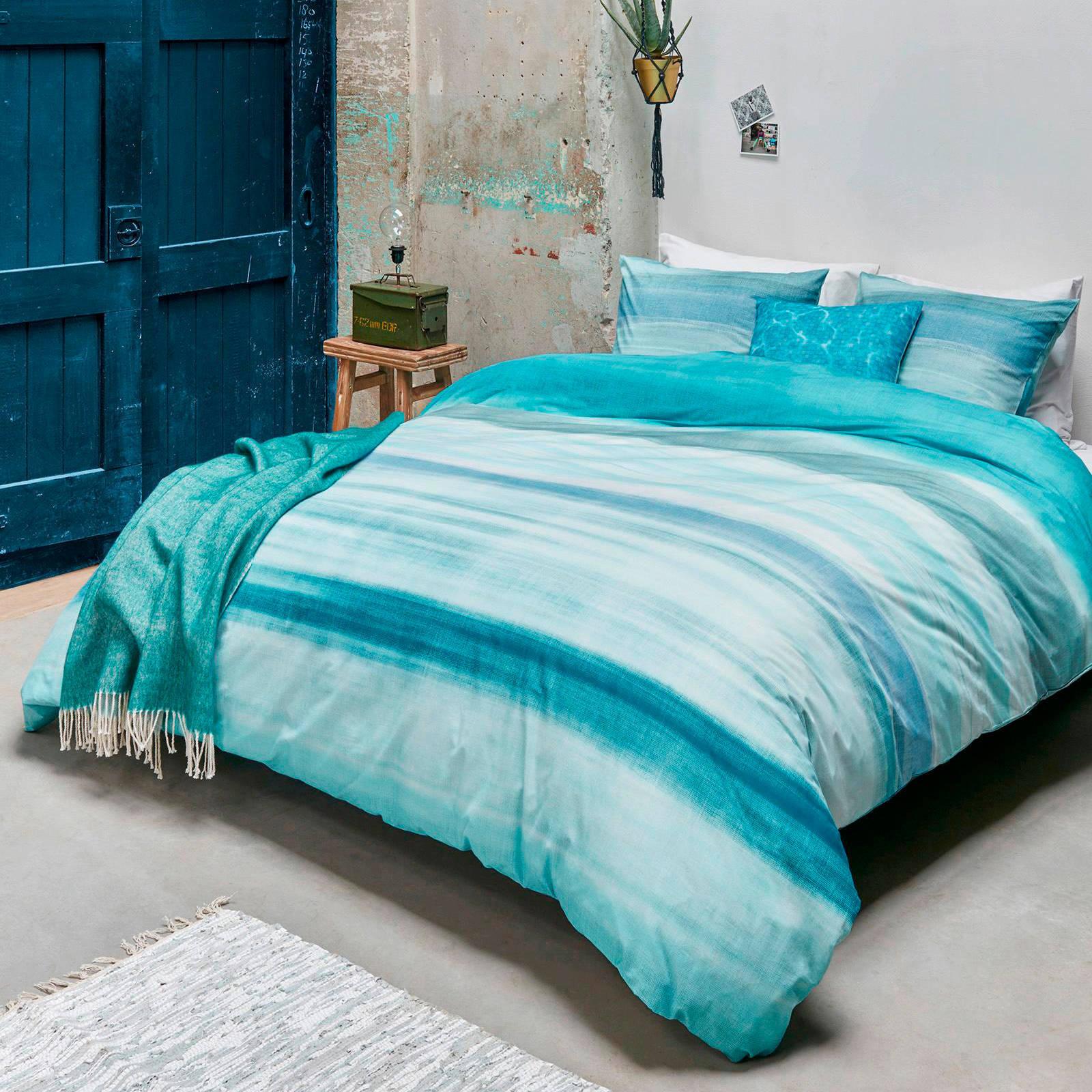 beddinghouse katoenen dekbedovertrek 2 persoons turquoise