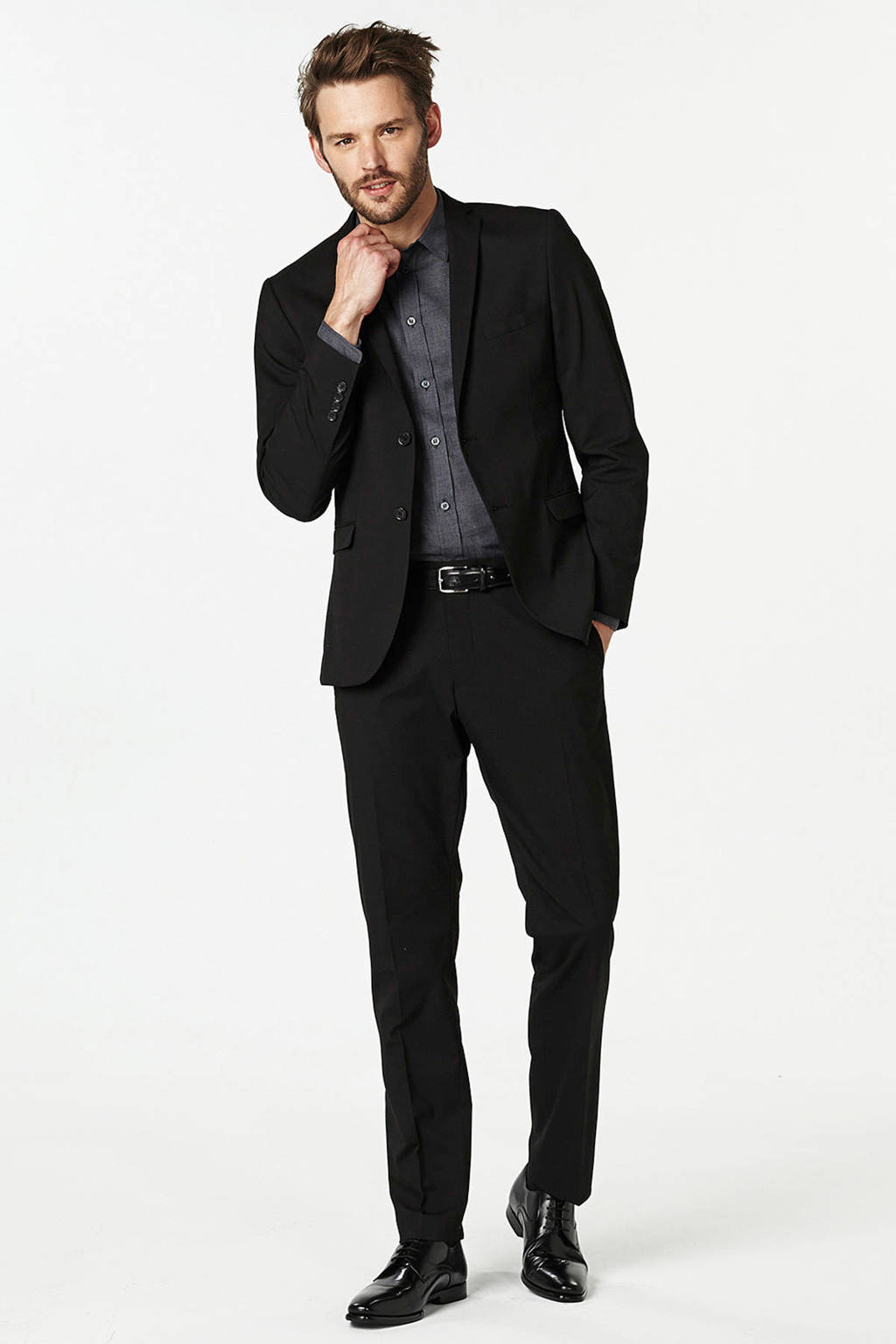 SELECTED HOMME My Logan slim fit pantalon, Zwart