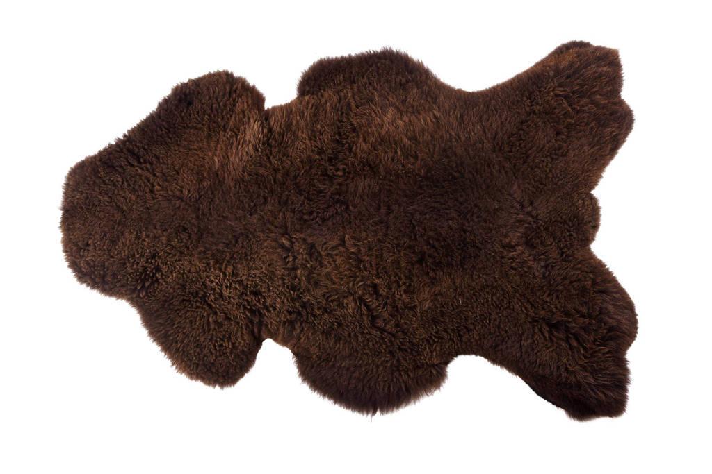 Woood schapenvacht  (110x60 cm), Bruin
