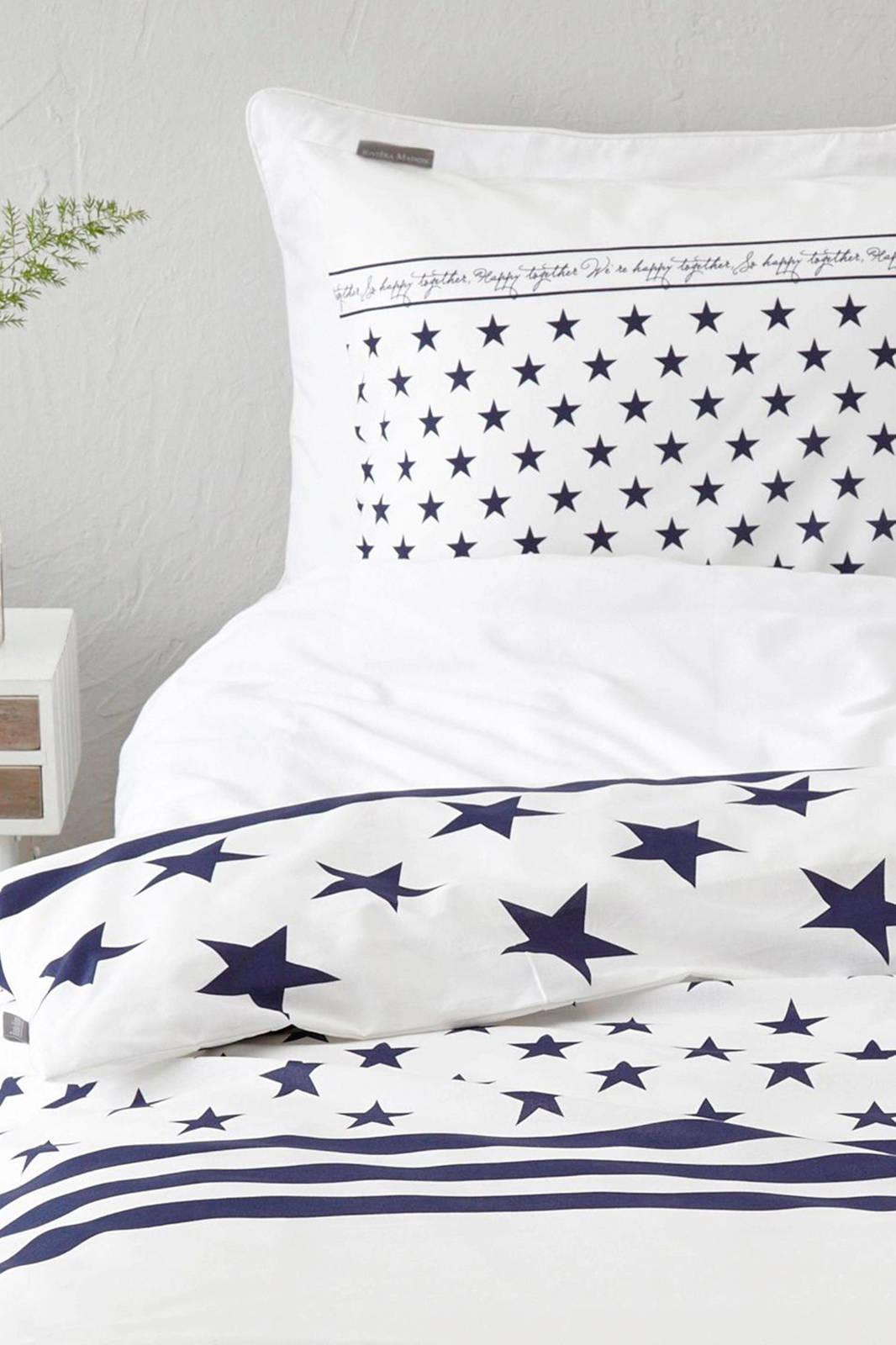 riviera maison katoenen dekbedovertrek lits jumeaux wit