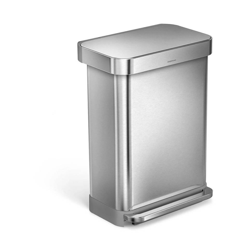 SimpleHuman SH017808 pedaalemmer, Zilver