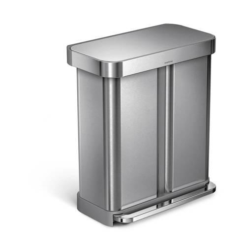 Simplehuman Liner Pocket RVS Afvalemmer 58 L GFT Rvs