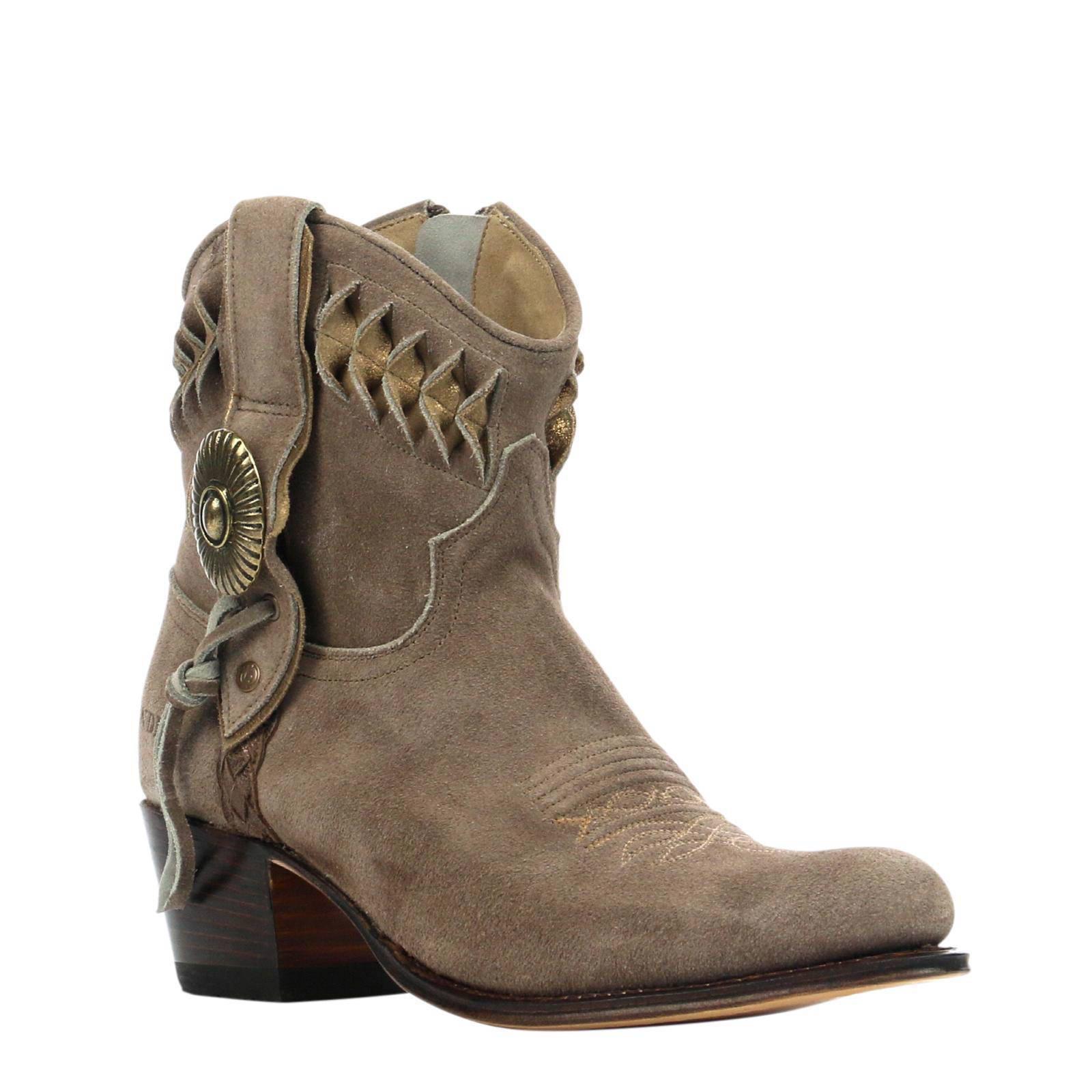 suède cowboy laarzen
