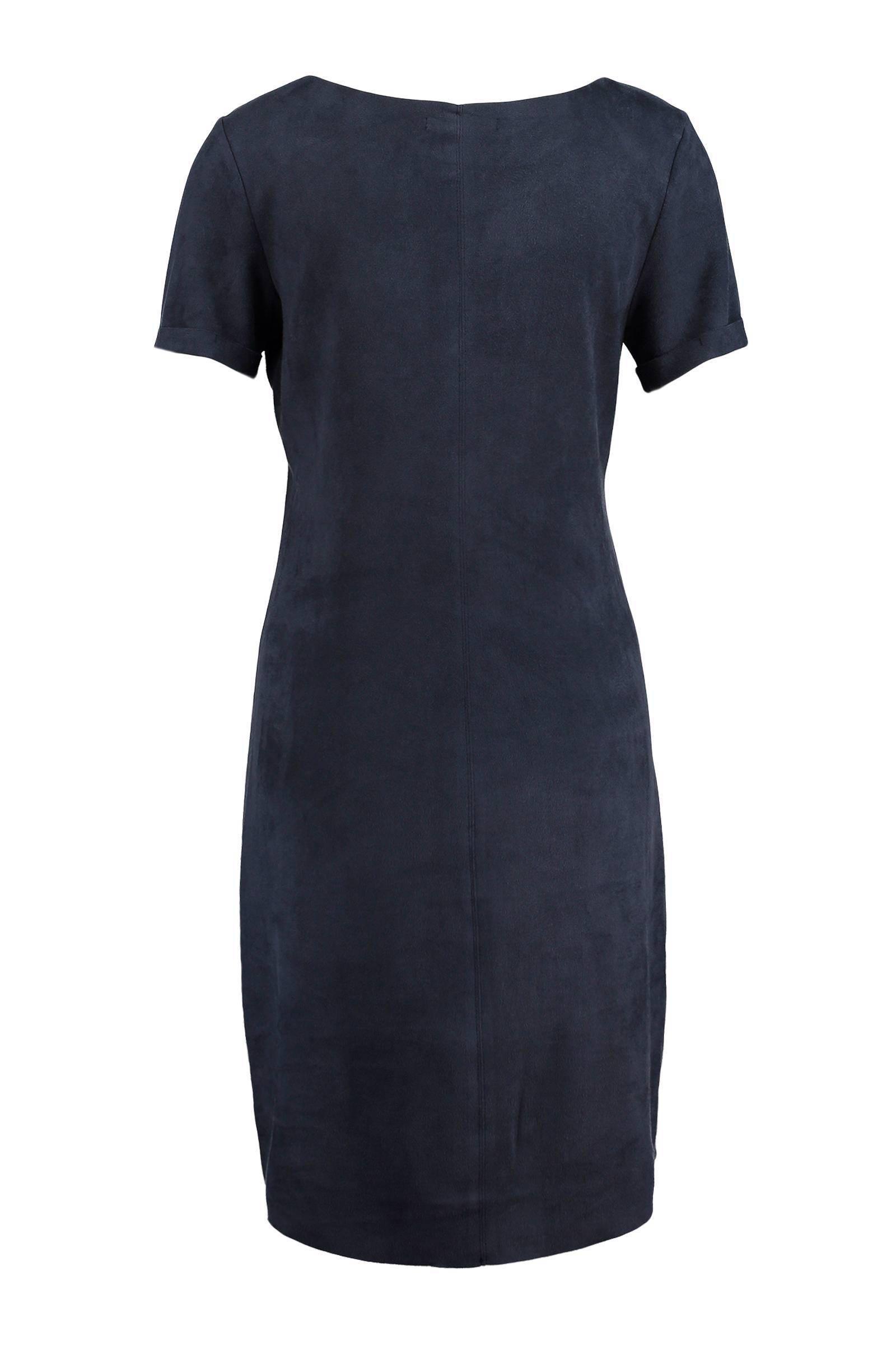 suede jurk donkerblauw