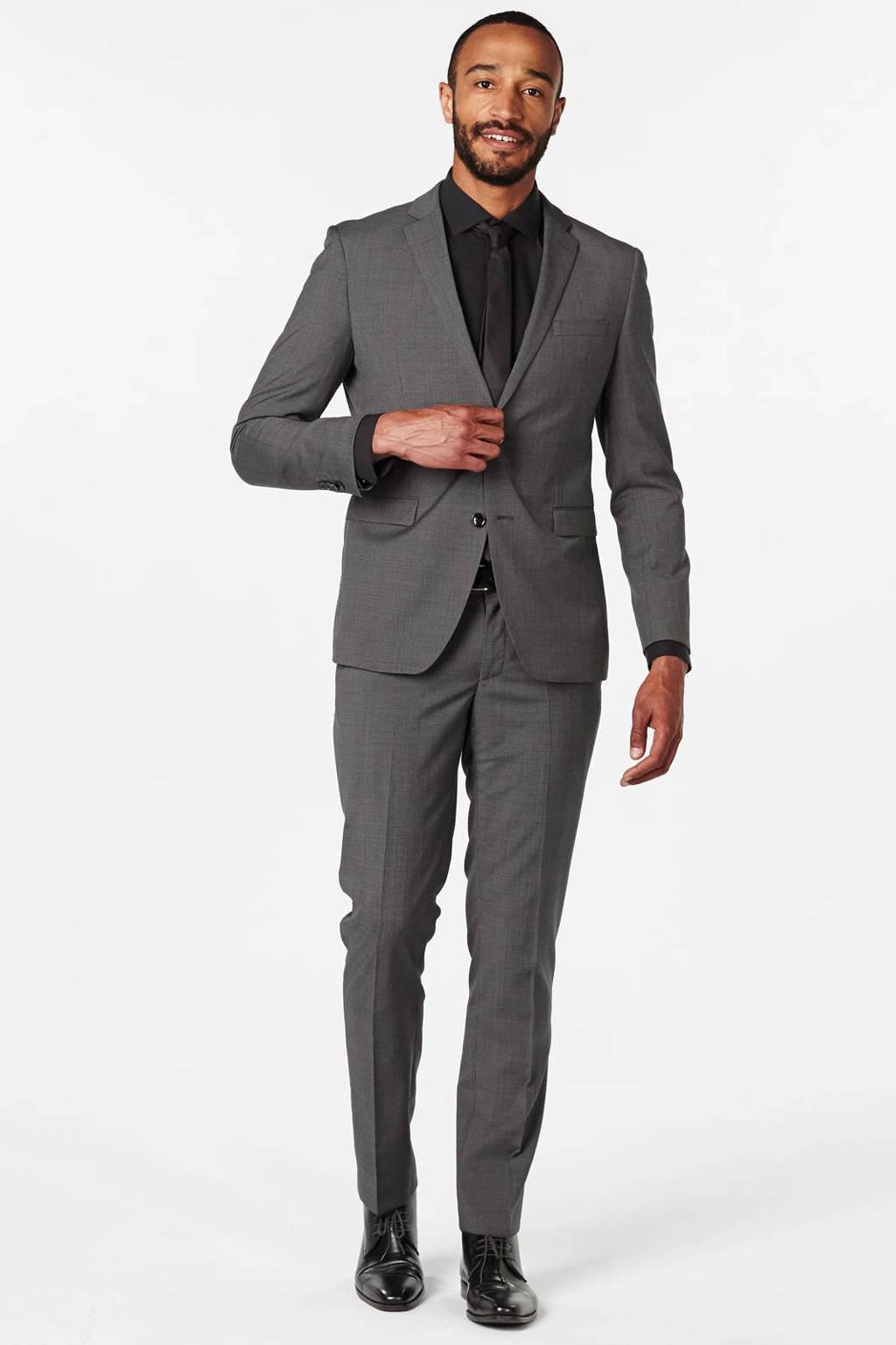 ESPRIT Men Collection slim fit pantalon, Donkergrijs
