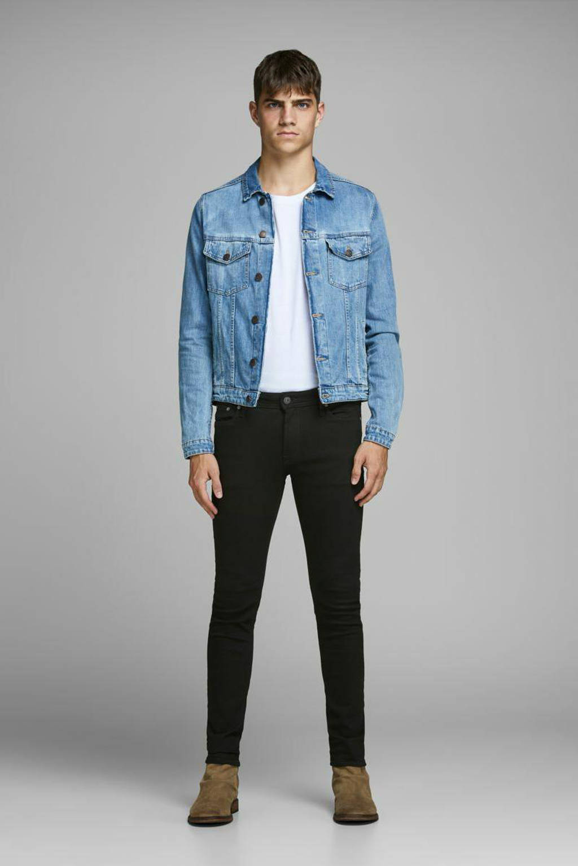 JACK & JONES JEANS INTELLIGENCE skinny jeans Liam black denim, Black denim