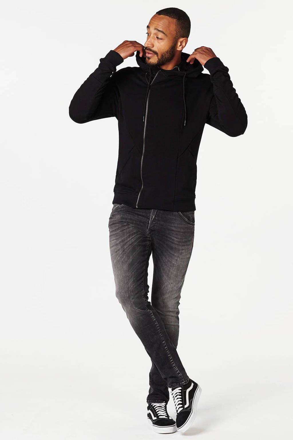 Jack & Jones Intelligence  slim Glenn slim fit superstretch jeans, Black denim