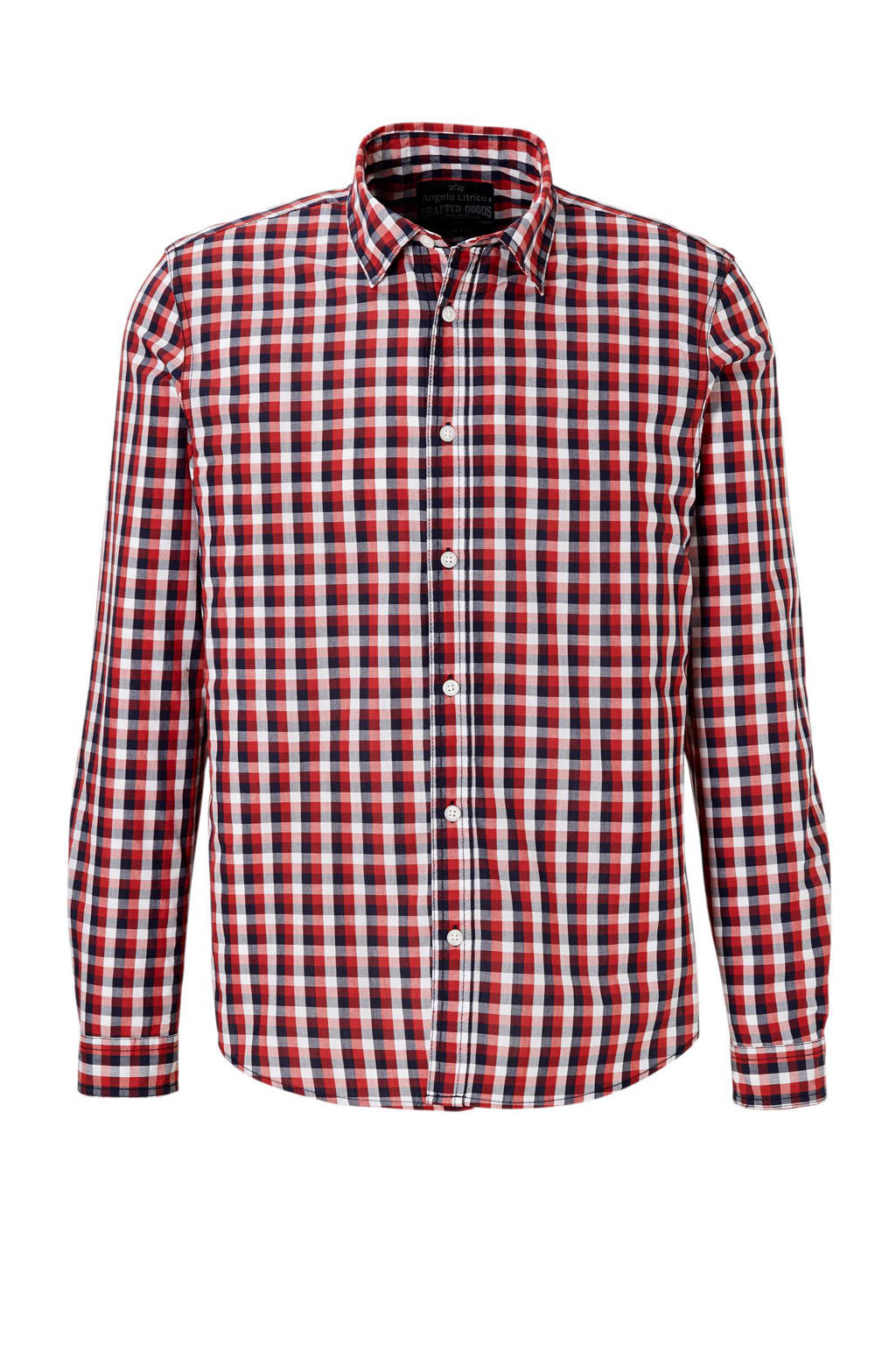Rood Overhemd Slim Fit.C A Angelo Litrico Slim Fit Overhemd Wehkamp