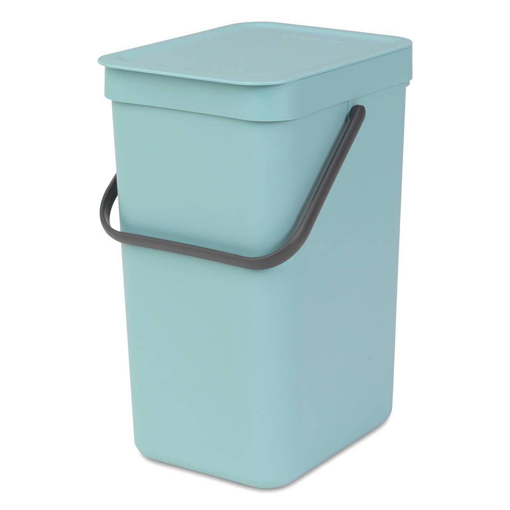 Brabantia Sort & Go afvalemmer, 12 liter, Mint