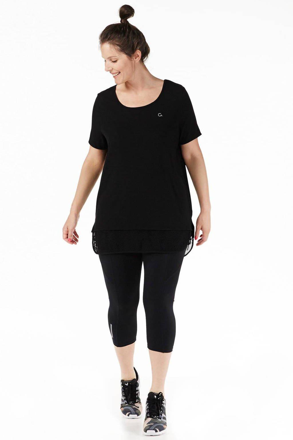 whkmp's great looks sport T-shirt, Zwart/groen