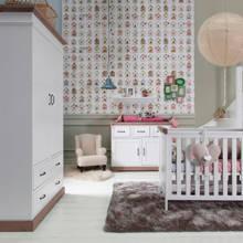 Savigno babykamer met kruis (ledikant + commode en linnenkast)
