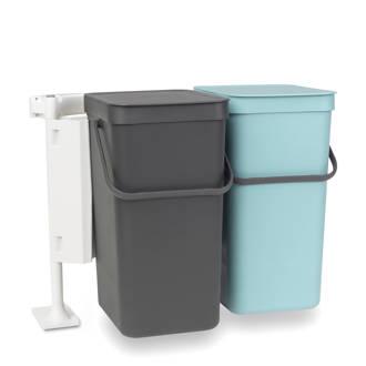 Sort & Go inbouw-afvalemmer, 2 x 16 liter