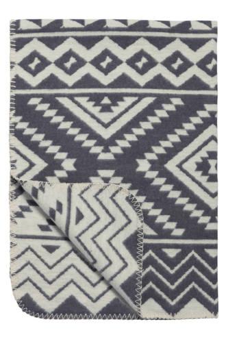 Ethnic ledikantdeken 120x150 cm grijs